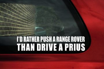 I'd rather push a Range Rover Sticker, Decal. For Range rover, Sport, Discovery, Disco